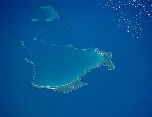 Orbital photo of Ouvéa (islands of Ouvéa, Moul...