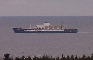 The MV Princess of Acadia leaving the Saint Jo...