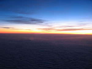 Sunrise (on the way from Gothenburg to Copenhagen)
