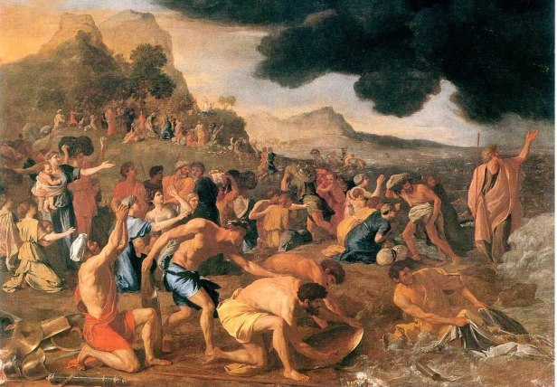 """The Crossing of the Red Sea"" by Nicolas Poussin"