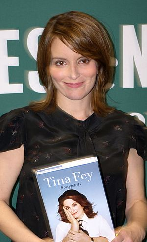 Tina Fey at the Union Square Barnes & Noble fo...