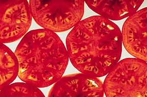 Tomato slices.