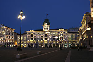 Central square, Trieste, Italy