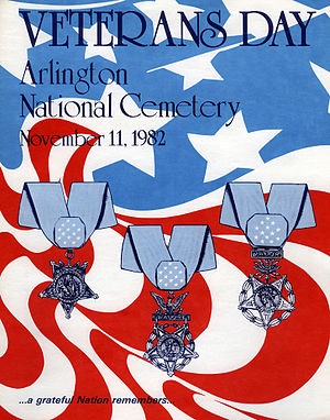 English: Veterans Day poster for 1982.