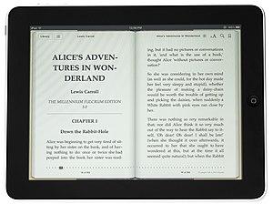 English: A 1st generation Apple iPad showing i...