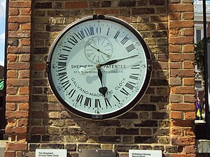 24 hour clock at the Royal Observatory, Greenwich.