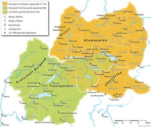 Deutsch: Das Herzogtum Alamannien und das Köni...