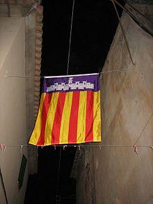 flagge der balearischen inseln wikipedia