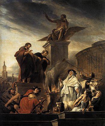 Nicolaes Pietersz. Berchem's depiction of Paul...