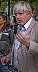 Boris Johnson being interviewed during London ...