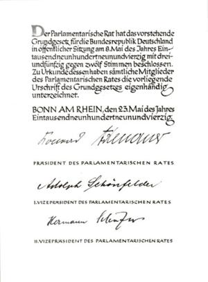 Deutsch: Grundgesetz für die Bundesrepublik De...