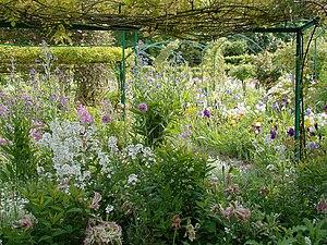 Giverny, Pergola in the garden of Claude Monet