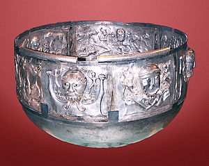 Gundestrupkarret (the Gundestrup Cauldron). Th...