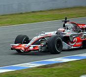Mp4-23 Conducido por Pedro de la Rosa durante los entrenamientos en el Circuito de Jerez en enero de 2008.