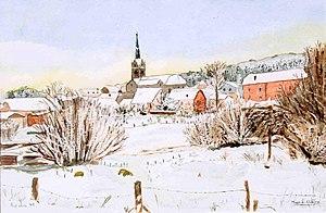 Redu, le village en hiver.