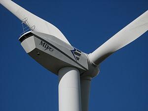 REpower md70 wind turbine in schülp, dithmarschen