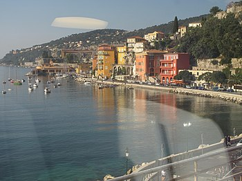 English: The mediterranean coast in Villefranc...