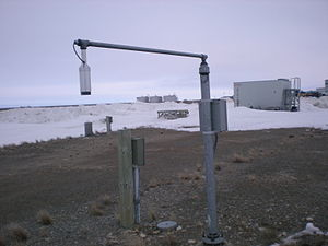 An automatic snow depth sensor