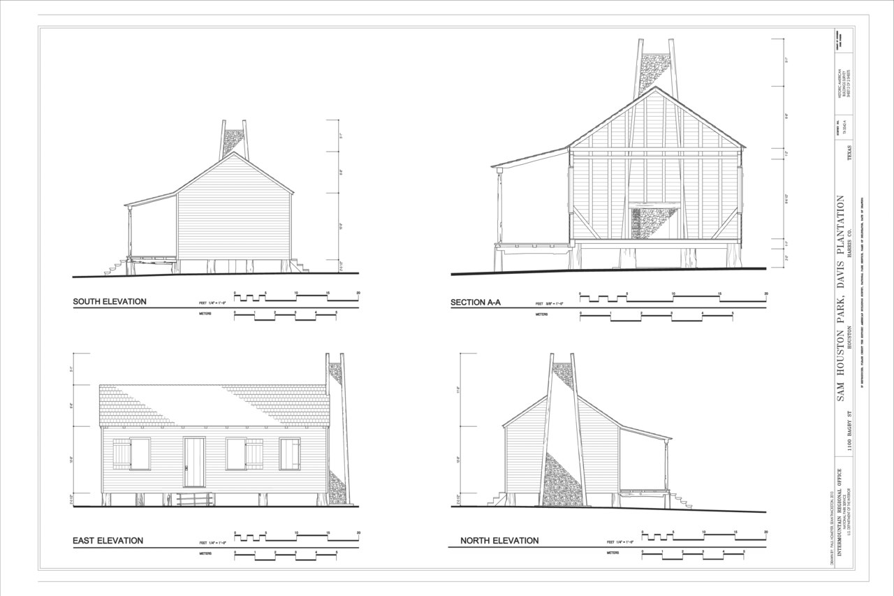 File South East And North Elevations And Section