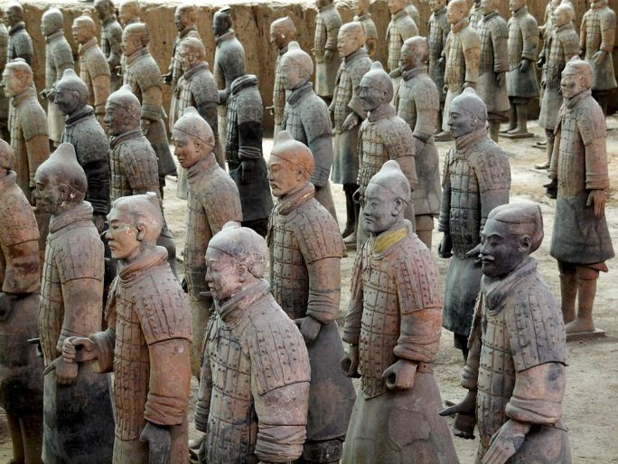 The Color of Terracotta Warriors