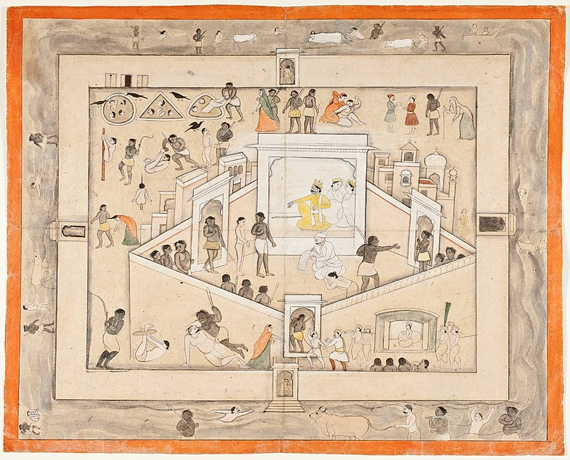 The Court of Yama, God of Death, circa 1800.jpg