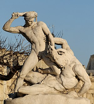 English: Theseus fighting the Minotaur by Étie...
