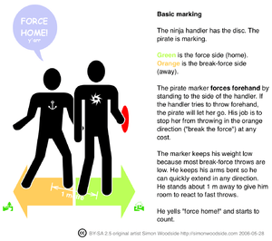 infographic showing how to mark with a force i...