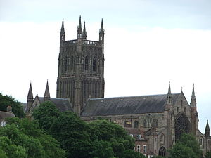 Worcester Cathedral, England.