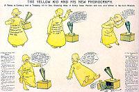 La striscia Yellow Kid e il suo nuovo fonografo