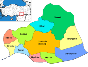 Districts of Şanlıurfa