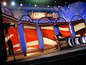 An image of the debate at Saint Anselm College...
