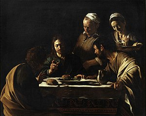 Caravaggio, ''Supper at Emmaus, 1606.