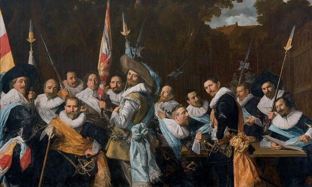 """""""Meeting of the Officers and Sergeants of the Calivermen Civic Guard"""" by Frans Hals"""