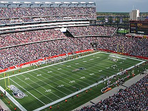 Gillette Stadium, home of the New England Patr...