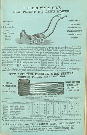 "Advertisement for ""J. B. BROWN & CO.'S NE..."