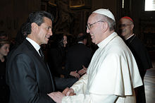 Peña Nieto meeting Pope Francis at the papal inauguration
