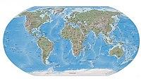 Mapa f�sico da Terra