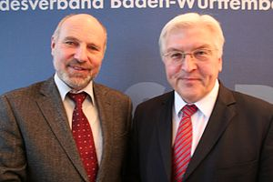 Rainer Arnold, German SPD politician, with Fra...