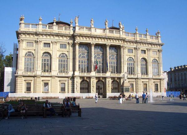 The main façade of Palazzo Madama