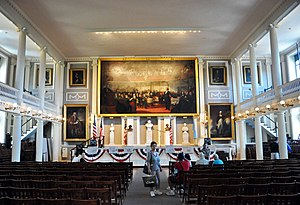English: Faneuil Hall Meeting Hall Boston Mass...