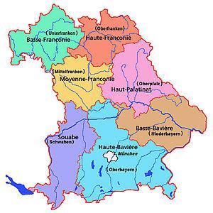 les circonscriptions bavaroises