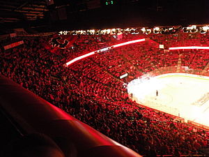 "English: The ""C of Red"" in Calgary p..."