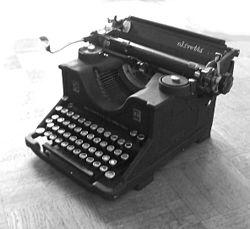 machine à écrire de Camillo Olivetti, 1922