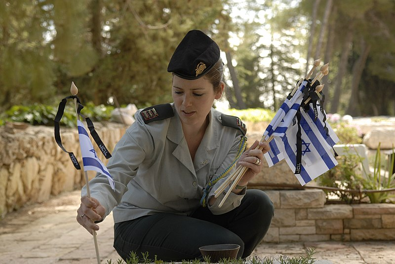 File:Flickr - Israel Defense Forces - Flags for the Fallen.jpg