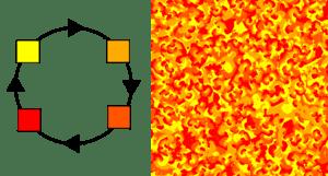 Griffeath's cyclic cellular automaton