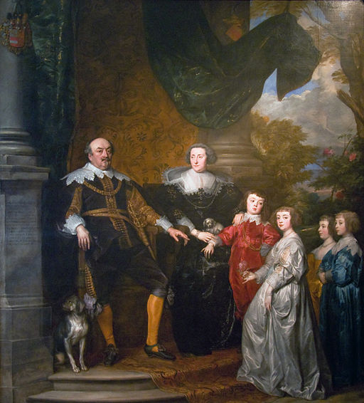 John, Count of Nassau-Siegen with his family, by Anthony Van Dyck