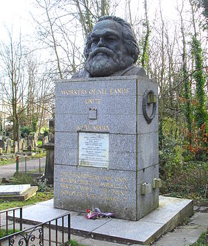 Photograph of the tomb of Karl Marx at Highgat...