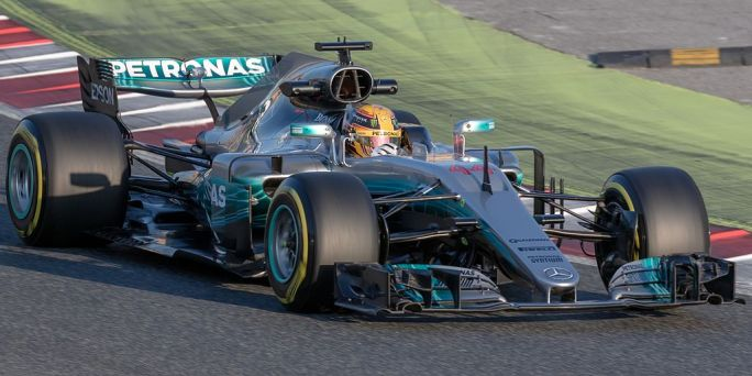 Lewis Hamilton 2017 Catalonia test (27 Feb-2 Mar) Day 1
