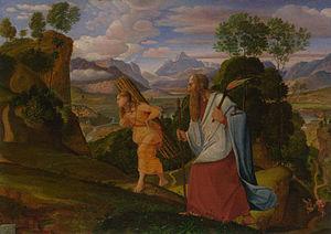English: Abraham und Isaac
