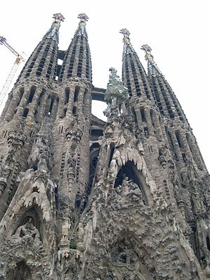 Sagrada Família church, by Gaudí.